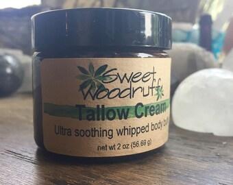 Whipped Tallow Cream, Tallow Balm, Grass Fed Tallow, Dry Skin Balm, Ultra Moisturizing, Local Tallow, Grass-Fed, Grassfed Cows, SMELLS GREAT