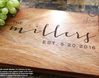 Personalized Engraved Cutting Board - Wedding Gift, Anniversary Gift, Housewarming Gift, Birthday Gift, Corporate Gift, Promotion. 025