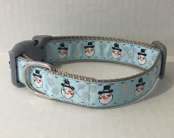 Happy Snowmen Dog Collar