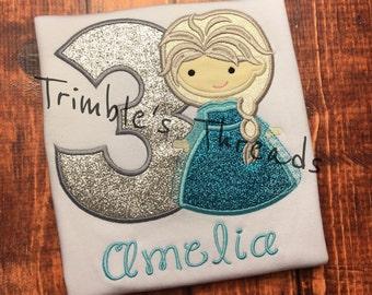 Frozen Princess Elsa Birthday Shirt / Elsa Birthday Shirt