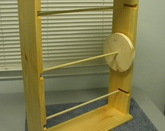 Ribbon rack organizer for large spools 6-6 1/2-and 7 inch spools