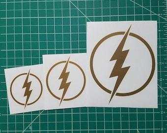 The Flash Lightning Bolt Logo Vinyl Decals/Stickers