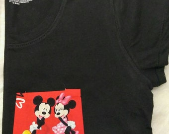 Mickey and Minnie Valentine's Day Inspired Pocket Tee Vacation Land World Handmade