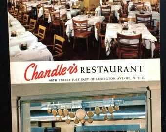 restaurant postcard Chandlers Restaurant, 46th ST New York City