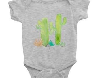 Funny baby onesie, Watercolor Cactus Onesie
