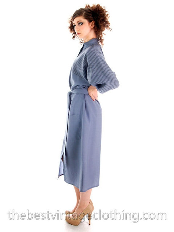 Dress Vuokko Suomi 1970s Vintage Beautiful Finland S Fine Blue Wool 5HZ0E5wgqn
