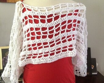 The summer shrug, summer top, crochet shrug, cotton shrug, crochet summer shrug, crochet top, crochet lace top, bathing suit cover up