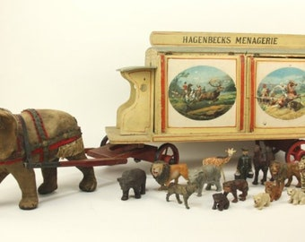 Hagenbeck's Menagerie Elephant Drawn Circus Wagon