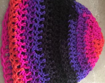 Vibrant Crochet Winter Hat
