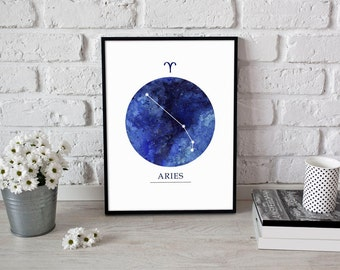 Aries Constellation,Astrology Poster,Aries Art,Aries Gifts,Aries Star Sign,Zodiac Art Print,Astrology Gifts,Zodiac Aries,Astrology Art