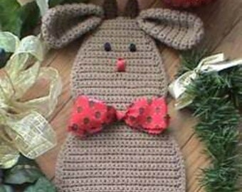 CROCHET PATTERN Reindeer Santa Christmas Door Decoration Rudy Reindeer
