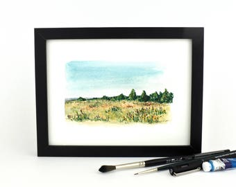 That Juniper View - watercolor giclee print