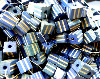 Wooden cube beads 12mm 20pcs