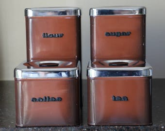 Vintage Canister Set of 4 - The Queen Line