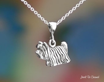 Sterling Silver Yorkie Necklace or Pendant Only .925 Yorkshire Terrier