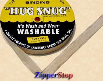 "AUTUMN BROWN  - Hug Snug Seam Binding - 100 yard roll 1/2"" Wide - 100% Woven-Edge Rayon - Sewing Trim & Craft Supply - Washable"