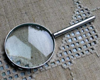 Magnifying Glass 6-1/4 Inches 2x Power Iron Handle Magnifier