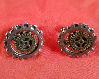 new one off bronze steampunk cuff links (80)