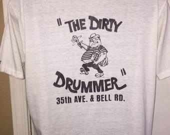 Vintage 60's Bowling Dirty Drummer Shirt Sonny Strunk Arizona AMF Bowling Ball