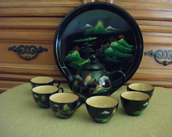 Fujian Lacquer Ware Tea Set
