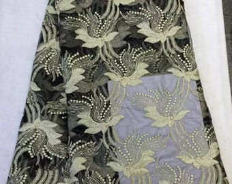 Latest African Laces Fabrics Embroidered African Guipure French Lace Fabric /African French Net Lace Fabric