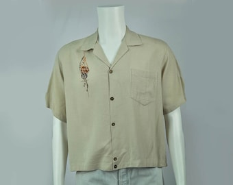 Vintage Shirt-Jac | Made in Hawai'i | 1950's Men's Button Up | XL