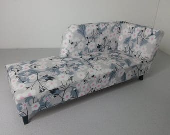 Modern Miniature Dollhouse Chaise Couch Sofa Liberty 1:12 Scale