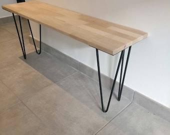 Wooden beech industrial bench
