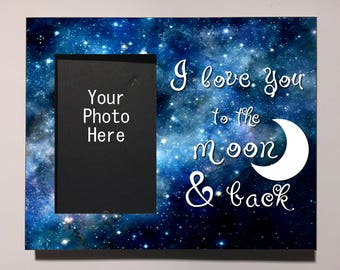 To The Moon And Back Frame Etsy