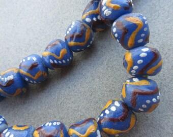 Glass Krobo Beads (11x10mm) [67676]