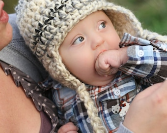 Crochet Newborn Baby Boy Hat