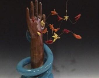 Original Ceramic/Mixed Media Art Sculpture