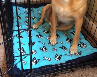 Dog Crate Pad, Dog Crate Bed, Dog Crate Mat, Any Size, Custom Fabric Choices