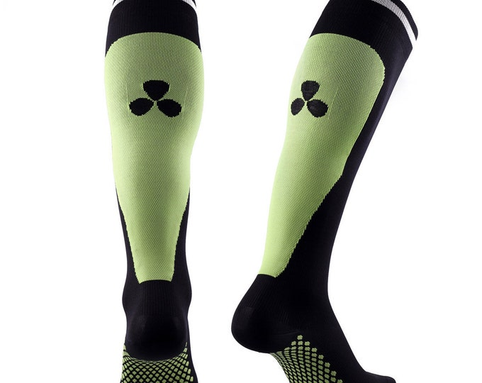 Samson® Green Compression Sport Socks Athletic Running Made in UK