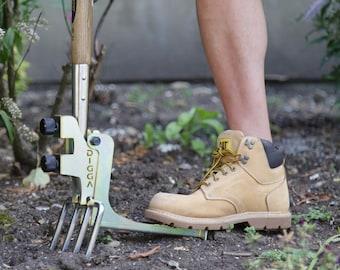 Kikka Digga Backsaver Digging Attachment Tool for Garden Forks & Spades