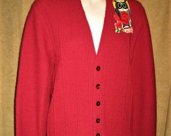 "60s Mens Cardigan Sweater Button Front 38"" Vintage"