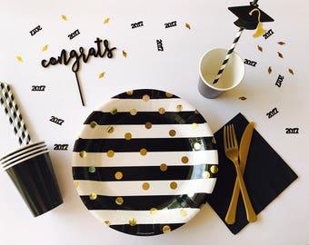 Graduation Party, Graduation Plates, Graduation Party Decorations