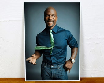 Terry Crews Poster Print - Colour and BW - 2 sizes - A4 and A3