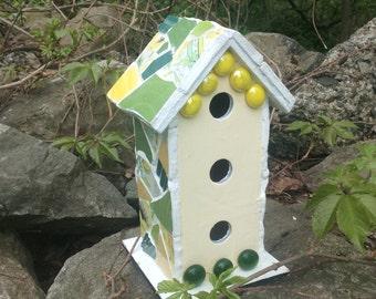 Decorative Springtime Mosaic Birdhouse