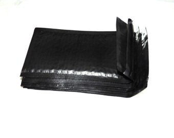 25 Pack Black 4x8 Poly Bubble Padded Mailers,Self Adhesive Bubble Air safety envelopes, Mailing Shipping Envelope bags