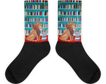 lion in the library socks