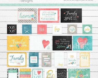 This Family of Mine Digital Journaling Cards, Project Life Family Everyday digital cards, family journal cards
