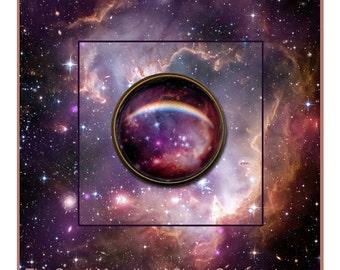 Galaxy Brooch presented on a Photo Card