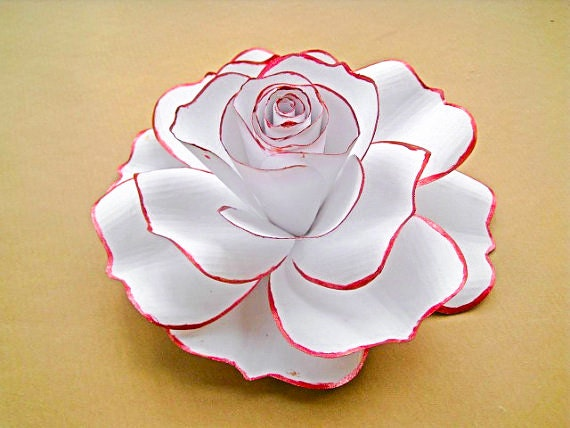 Giant white paper rose white flower blooms extra large paper zoom mightylinksfo