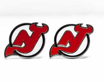 New Jersey Devils Cuff Links -- FREE SHIPPING with USPS First Class Domestic Mail