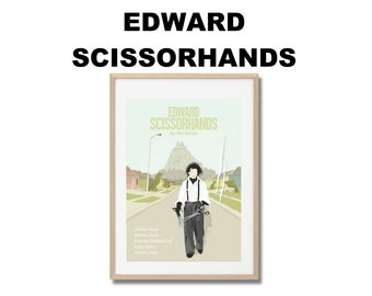 Edward Scissorhands Movie Print - Poster Tim Burton A3