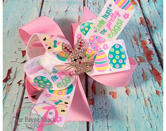 Easter Bunny Bow, Easter Bunny, Easter Bow