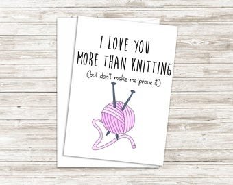 Valentine's Day Card for Him - Funny Valentines Day Card - Valentine's Day Gift for Boyfriend - Gift for Husband - I Love You More Than Card