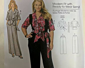B5575, Butterick, Shirt Pattern, Pant Pattern, Sewing Pattern, Sizes XS-XL, Out of Print