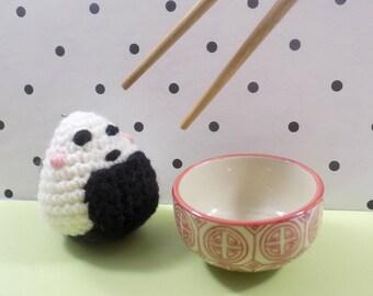 Porte-clés Onigiri || Fait main au crochet en amigurumi || Kawaii gift
